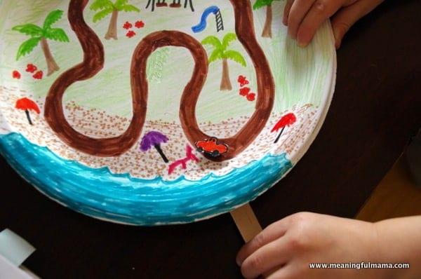 1-magnet track road kids craft paper plate Mar 3, 2014, 4-005