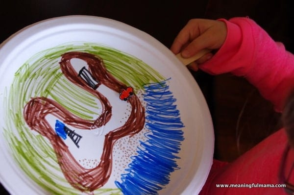 1-magnet track road kids craft paper plate Mar 3, 2014, 4-021