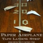 Paper Plane Tape Landing Strip