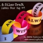 Paul and Silas Craft – AWANA Cubbies Bear Hug #19