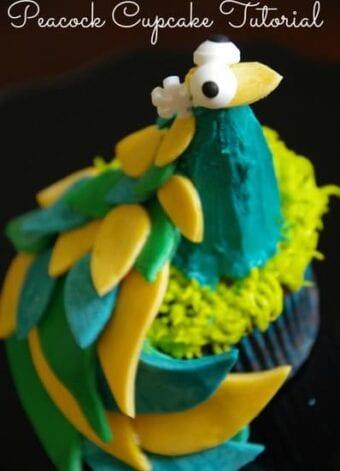 Peacock Cupcake Tutorial