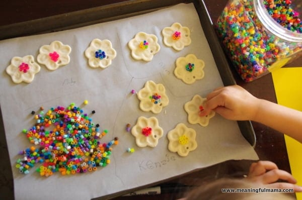 1-spring flower craft salt dough fingerprint Mar 17, 2014, 3-027