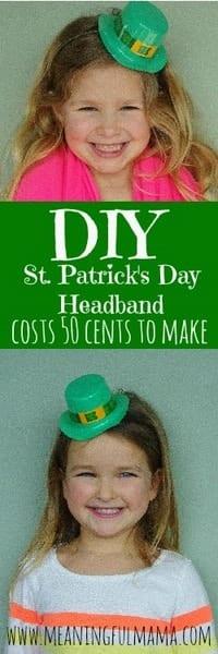 1-st. patrick's day headband diy