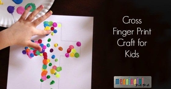 Easter Cross Fingerprint Craft