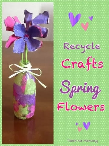 recycle egg carton flower craft