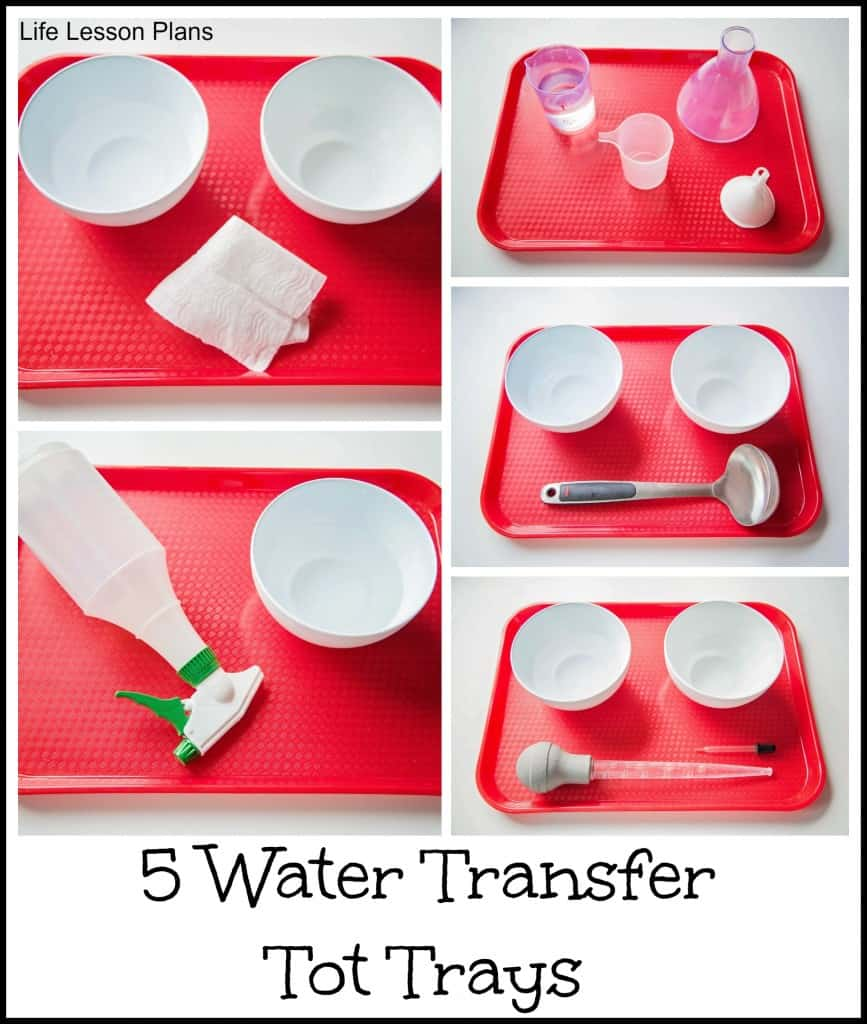 water transfer tot tray