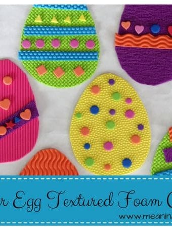 Easter Egg Craft with Textured Foam