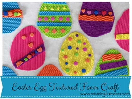Textured Foam Easter Egg Craft