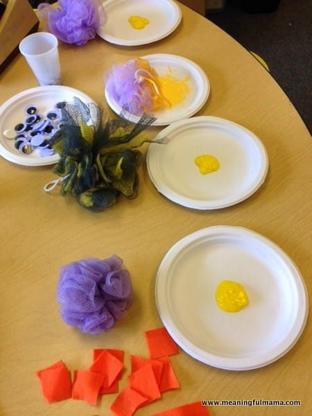 1-chick craft ideas for kids loofah Easter Apr 14, 2014, 1-30 PM