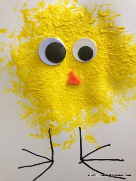 1-chick craft ideas for kids loofah Easter Apr 14, 2014, 2-26 PM