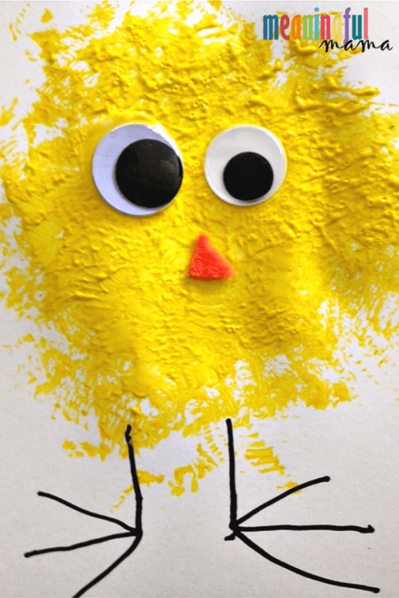 baby chick easy spring craft for kids