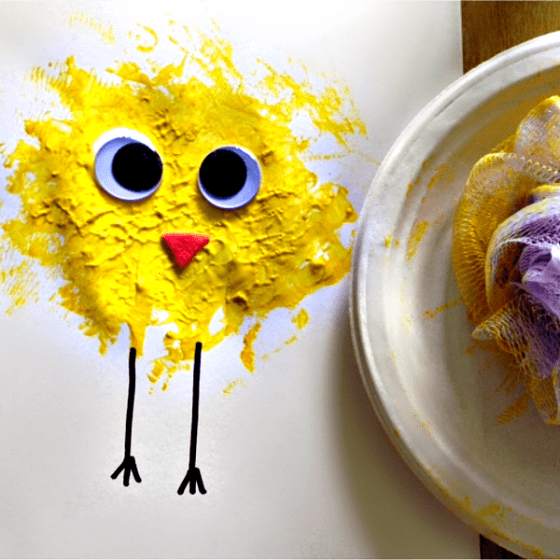 Easy Spring Chick Craft for Kids