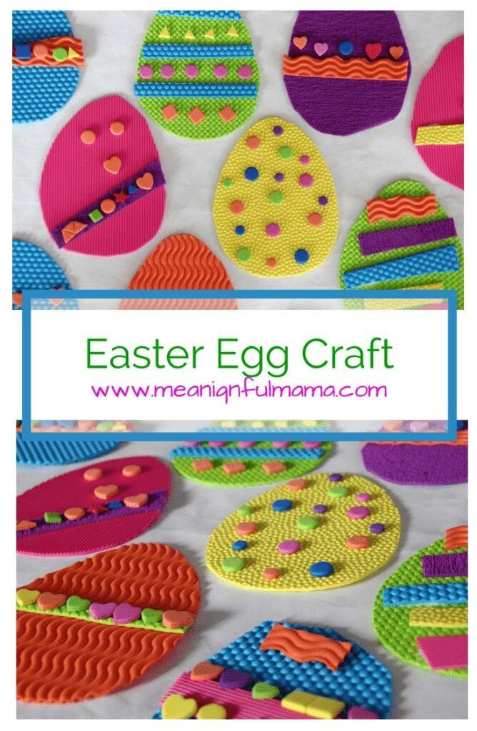Easter Egg Craft Textured Foam Kids