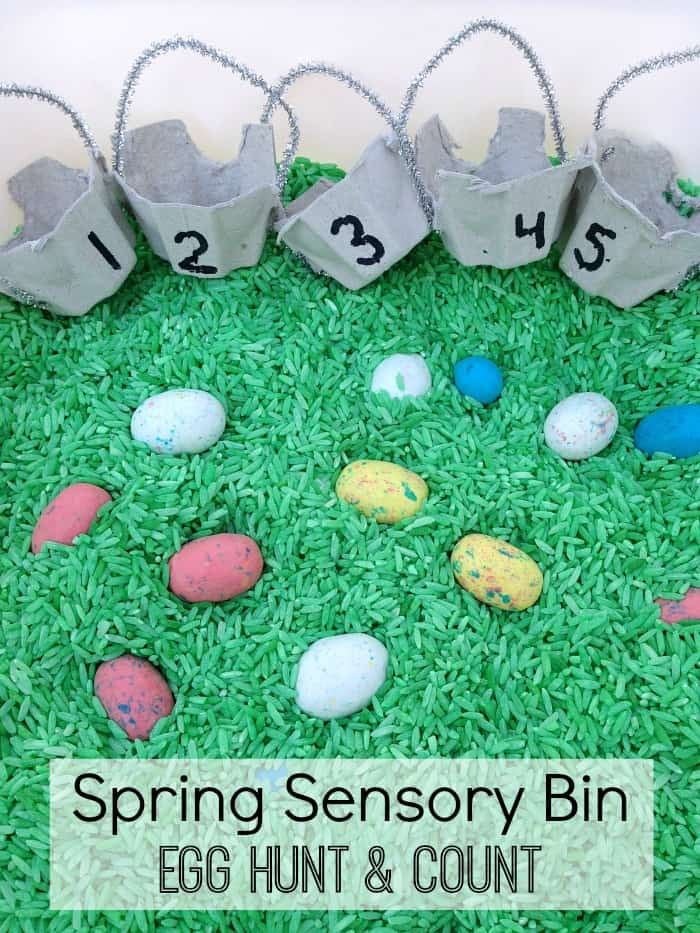 Spring-Easter-Sesnory-Bin-Egg-Hunt-and-Count