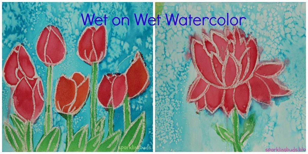 Watercolor pin