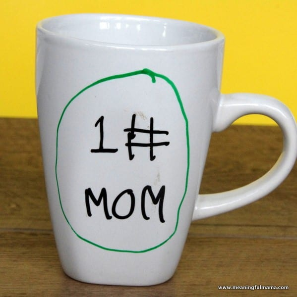 Homemade Mother's Day Mugs