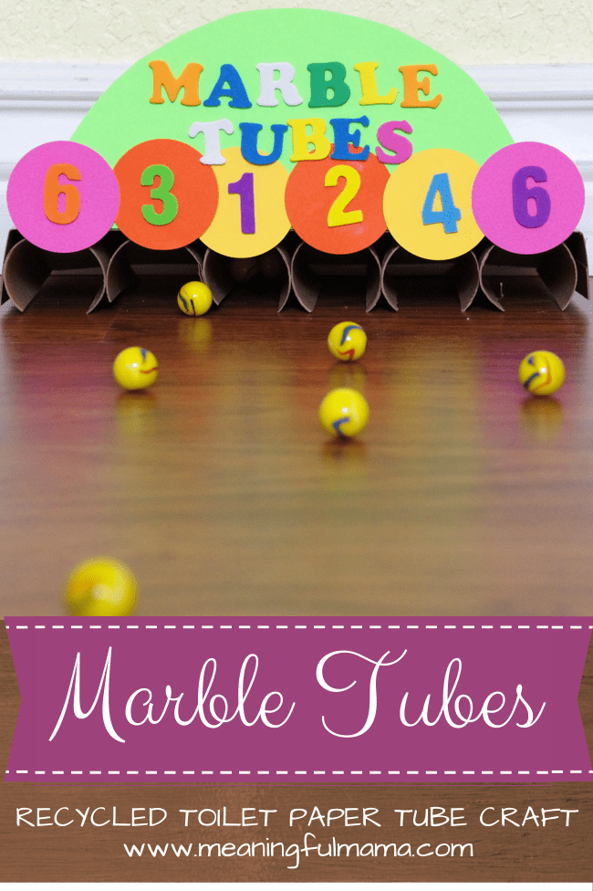 Marble Tubes MM toilet paper roll craft