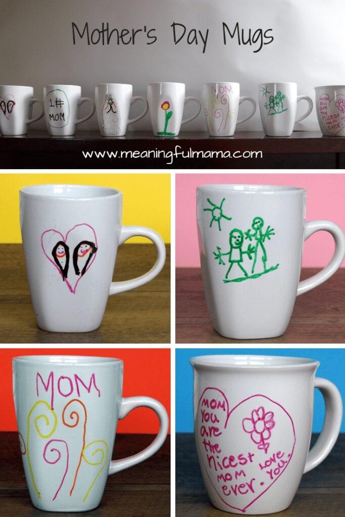 Homemade Mother's Day Mugs