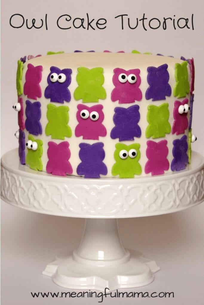 Owl Cake Tutorial