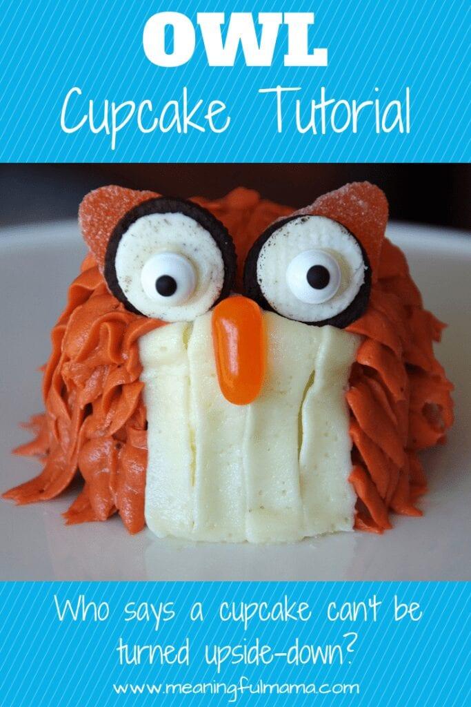 Owl Cupcake Tutorial Owl Party Food