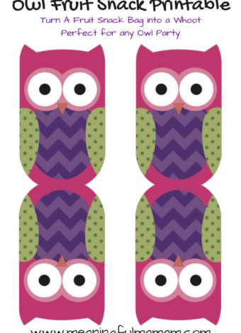 Owl Fruit Snack Printable