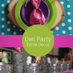 Owl Party Table Decorations and Giveaway