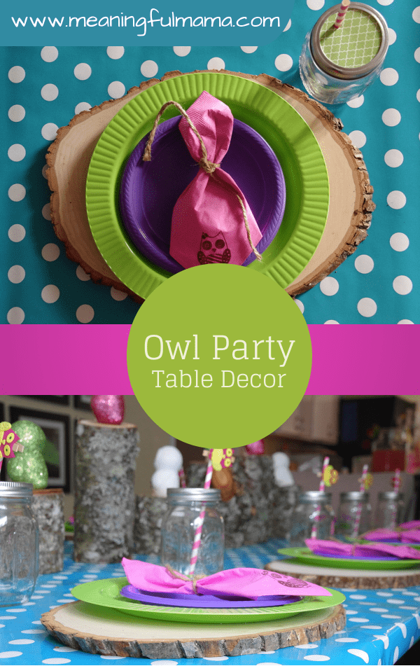 Owl Party Table Decorations