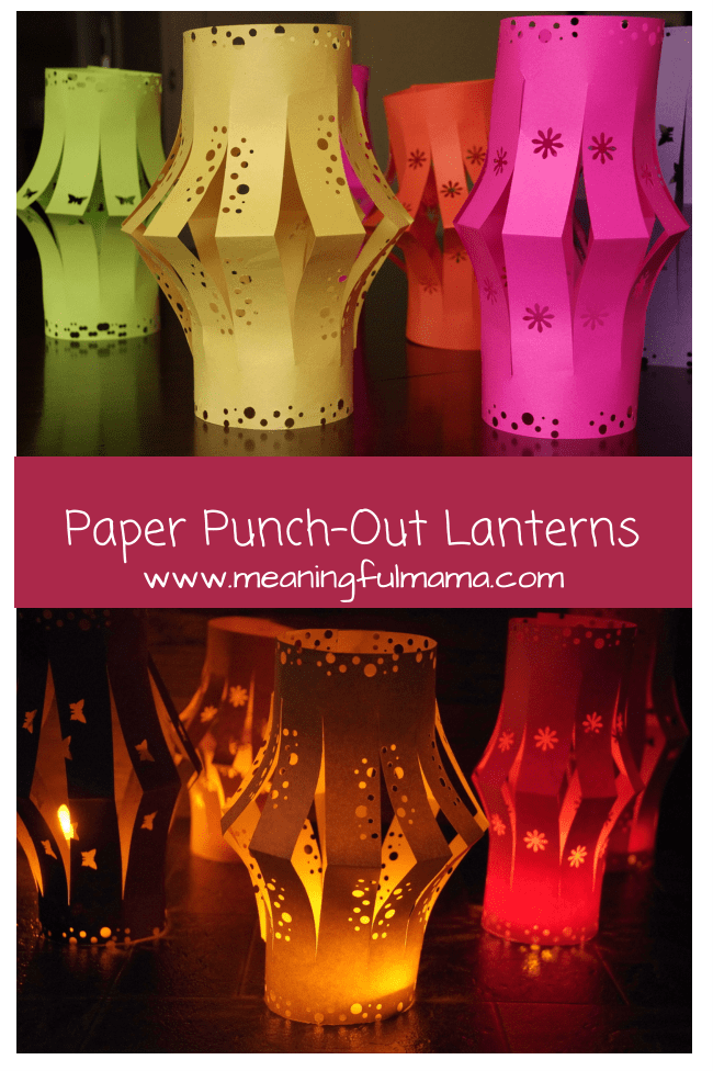 paper lanterns punch outs