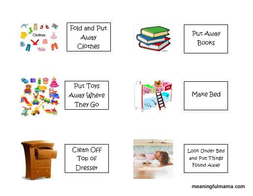 room clean up printable