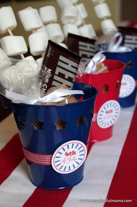 s'more bucket for fourth of July