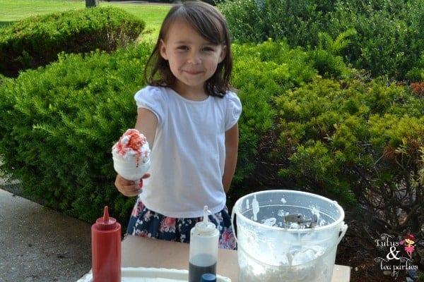 Snow Cone sensory play