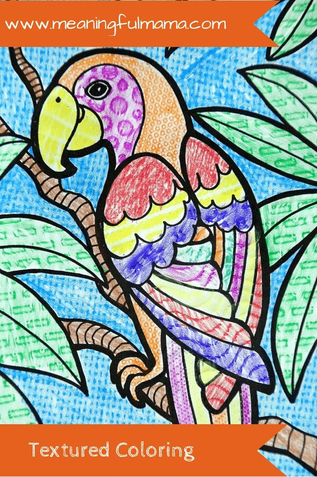 Textured Coloring craft kids meaningful