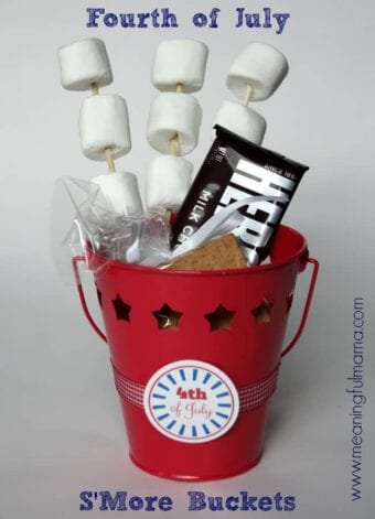 S'More Buckets for a Fourth of July Party