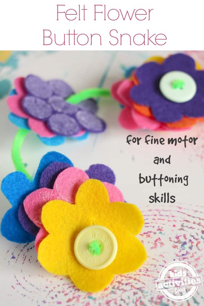 Felt-Flower-no-sew-Button-Snake