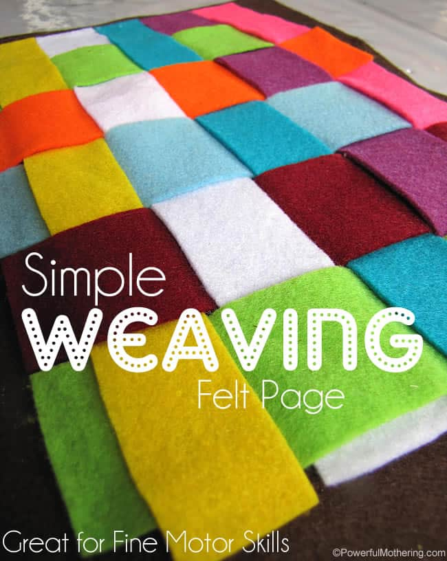 Simple-Weaving-Felt-Page-for-fine-motor-skills