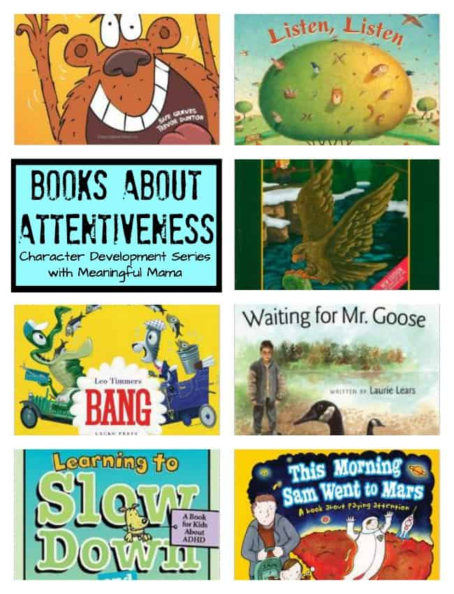 books about attentiveness listening ADHD kids