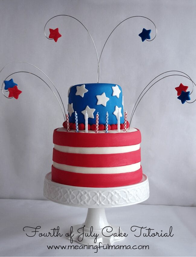 fourth of july flag cake tutorial