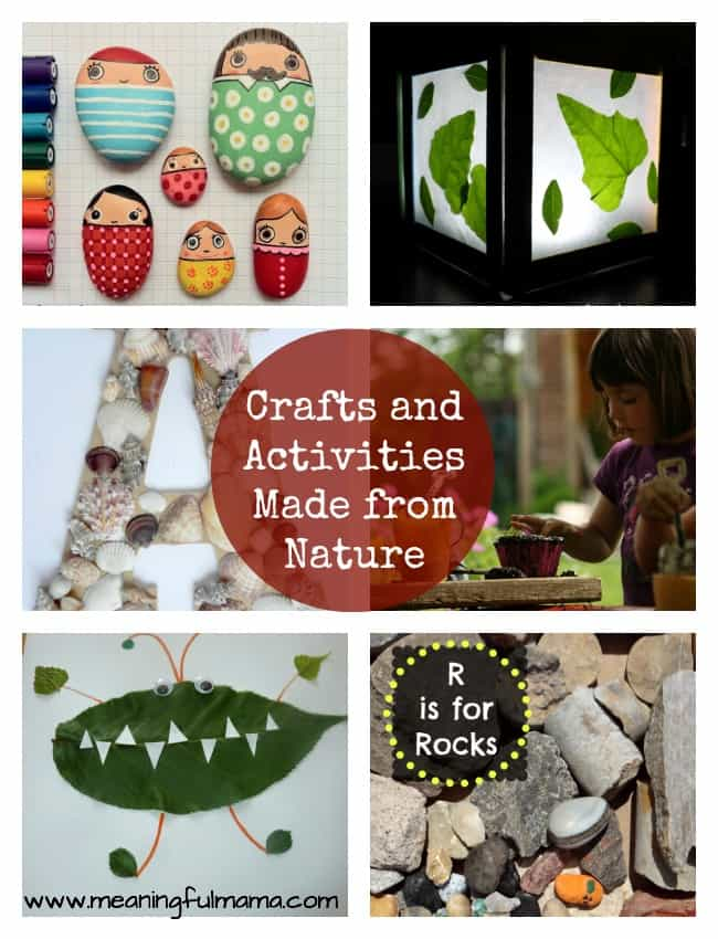 nature crafts activities kids