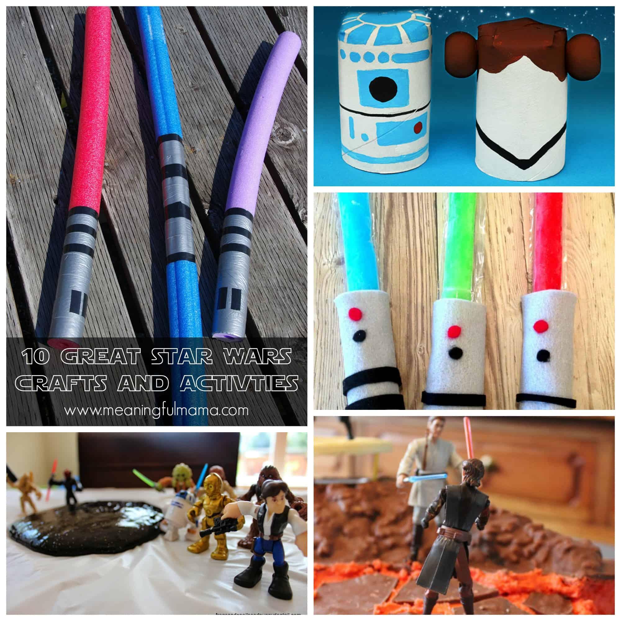 Kids Craft Lightsabers
