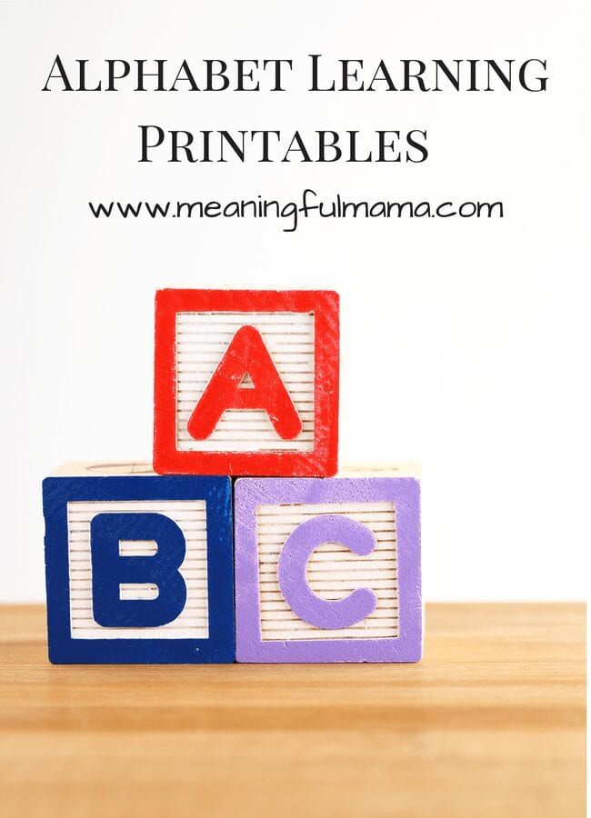 Alphabet Learning Printables