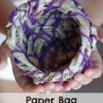 Paper Bag Coiled Basket Craft