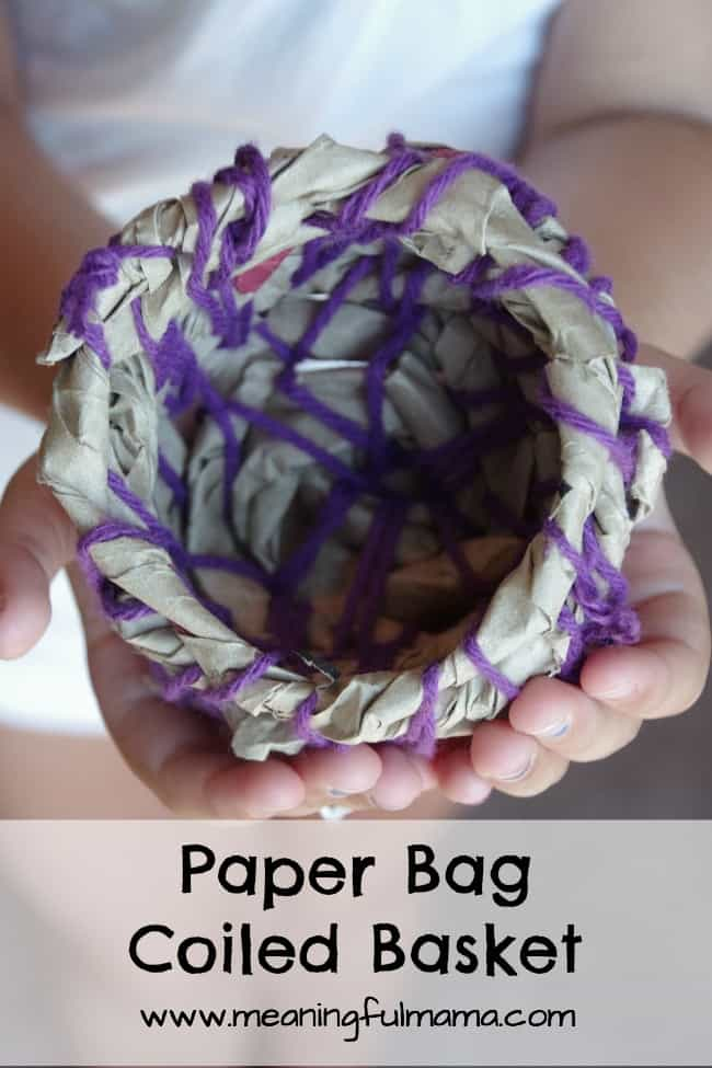 paper bag coiled basket meaningful mama