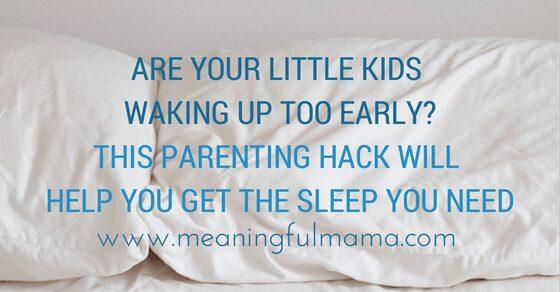 parenting hack keeping kids in bed