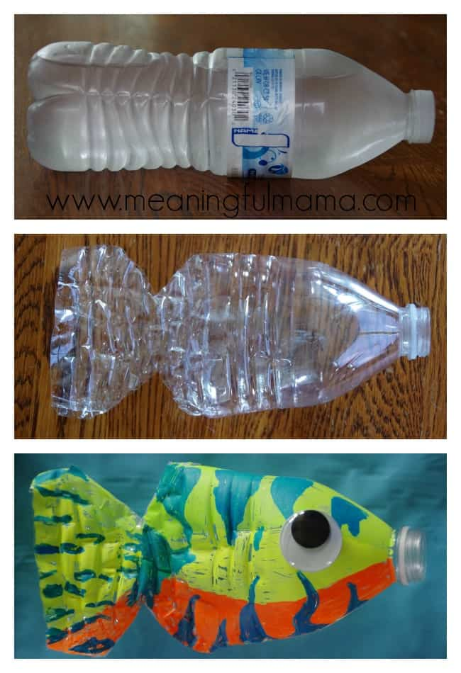 Water bottle fish craft for Craft using waste bottles