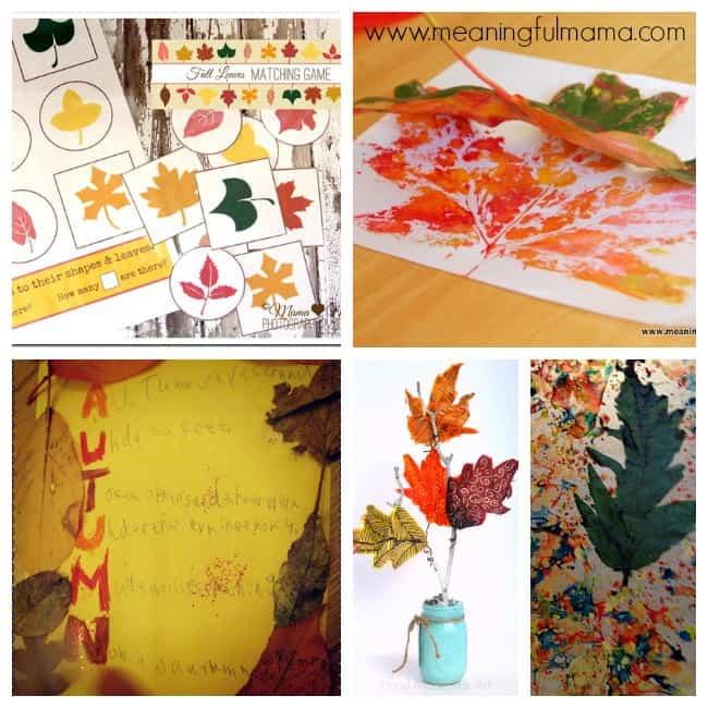 3 leaf art crafts activities kids