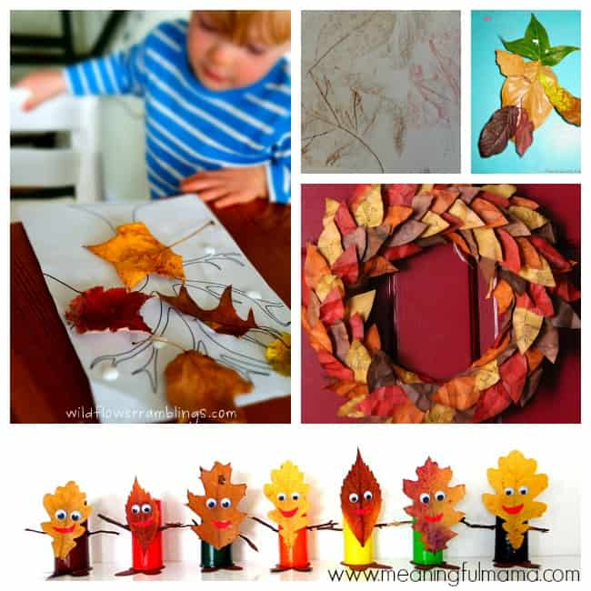 6 fall leaf crafts activities kids