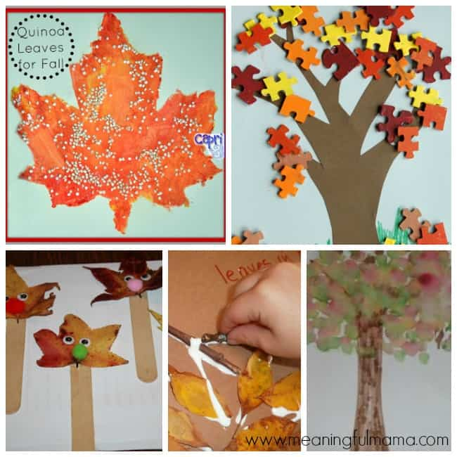 7 leaf crafts activities kids