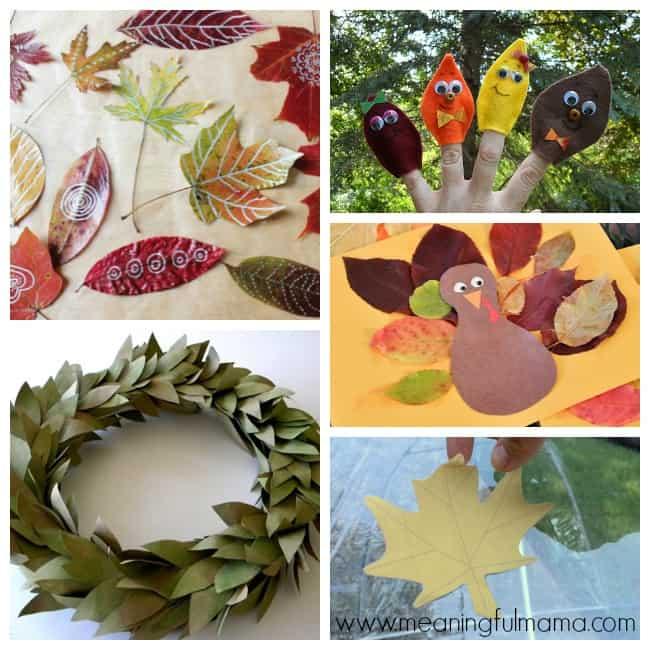 9 leaf crafts activities kids