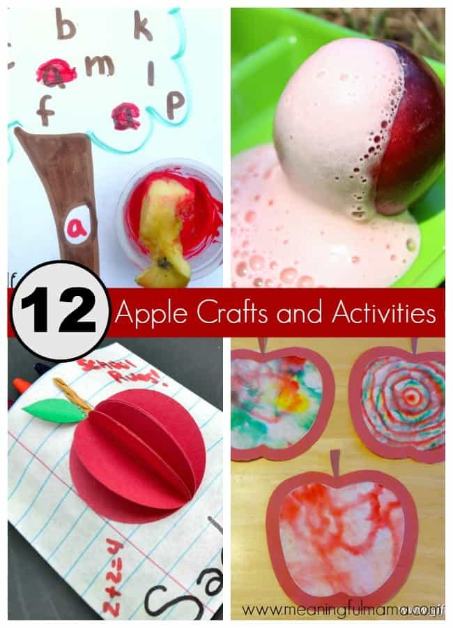 apple crafts activities kids