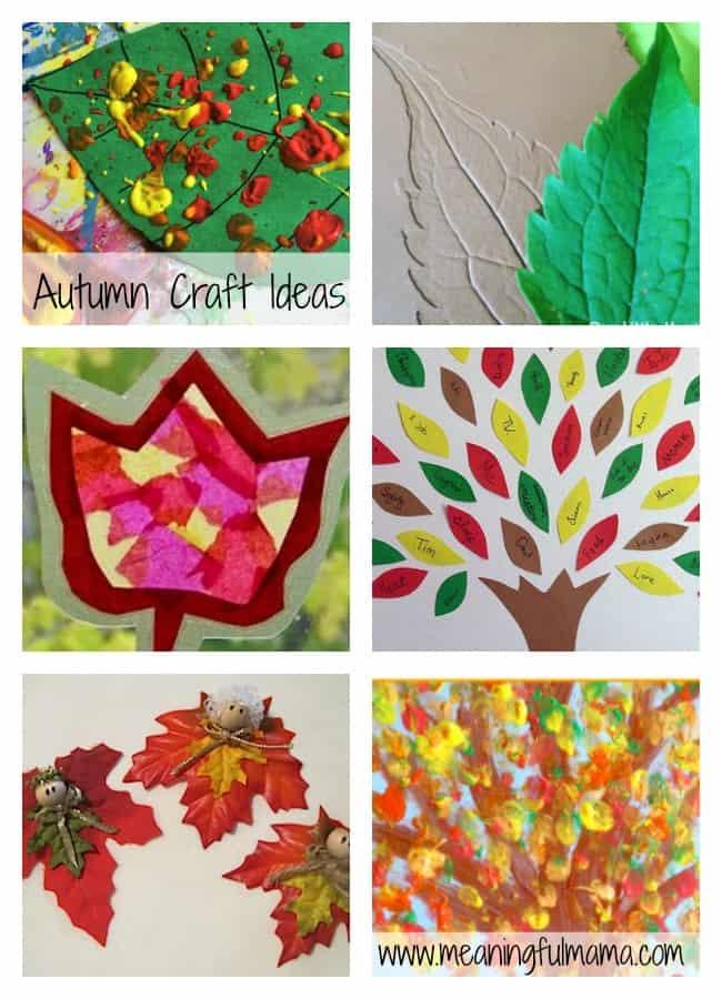 autumn fall craft ideas kids